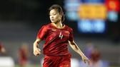 Hoa khôi tuyển nữ Việt Nam Hoàng Thị Loan trong trận chung kết trước Thái Lan. Ảnh: Dũng Phương