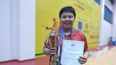 Tay vợt Mai Hoàng Mỹ Trang khi lần thứ 15 lên ngôi vô địch. Ảnh: Dũng Phương