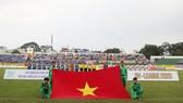 Ngày hội của 8 trường Quốc gia tại gỉai bóng đá Sinh viên được tổ chức trên sân Thống Nhất. Ảnh: Dũng Phương