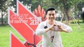 Ca sĩ Lam Trường chạy gây quỹ cho các em nhỏ mắc bệnh tim bẩm sinh. Ảnh: Dũng Phương