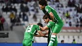 Niềm vui của các cầu thủ Iraq sau trận thắng dễ trước Yemen. Ảnh: AFC