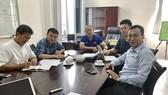 Một buổi họp về chuyên môn của ông Park với VFF. Ảnh: Đoàn Nhật
