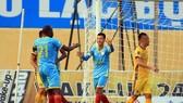 Hai đội đã bất phân thắng bại ở trận lượt đi tại Thanh Hóa. Ảnh: MINH HOÀNG