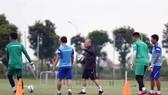 Thầy trò ông Park đã không có trận đấu tập huấn thứ 3 như dự kiến. Ảnh: Đoàn Nhật