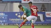 Thua Phố Hiến ngay trên sân nhà, Bình Phước kết thúc hy vọng tranh suất dự play-off. Ảnh: Minh Hoàng