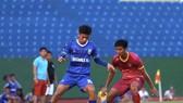 Trận tập huấn mới đây giữa Sài Gòn FC và Becamex Bình Dương. Ảnh: SGFC