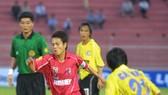 Hoàng Lâm khi còn khoác áo đội U21 Bình Định. Ảnh: Giang Lao