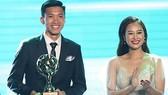 Văn Hậu tại Gala  trao giải Quả bóng vàng Việt Nam 2018. Ảnh: Anh Khoa