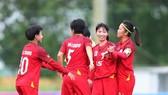 Đội nữ TPHCM khởi đầu thuận lợi trước Than KSVN. Ảnh: MINH HOÀNG