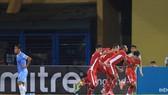 Niềm vui của cầu thủ Viettel sau bàn gỡ hòa. Ảnh: MINH HOÀNG