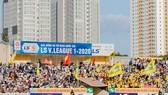 Sân Vinh mở cửa các khán đài B, C và D trong trận đấu ở vòng 12. Ảnh: SLNAFC