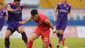 Tiến Linh cùng các đồng đội giành chiến thắng ấn tượng trước Sài Gòn FC. Ảnh: DŨNG PHƯƠNG