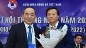 Tân Phó chủ tịch VFF Lê Văn Thành (bên phải). Ảnh: MINH HOÀNG