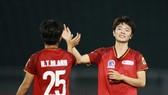 Tuyết Ngân lập hatrick trong chiến thắng 4-0 của TPHCM I trước Sơn La. Ảnh: DŨNG PHƯƠNG