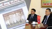 Phó chủ tịch thường trực VFF Trần Quốc Tuấn và TTK Lê Hoài Anh đại diện VFF tham dự Đại hội