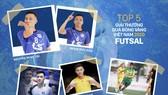 Tốp 5 cầu thủ vào danh sách rút gọn hạng mục Quả bóng vàng Futsal 2020