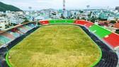 Sân Quy Nhơn đang được nâng cấp