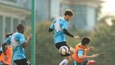 """Các ngoại binh """"tiền tỉ"""" ở Hà Nội FC chưa thể hiện như mong chờ. Ảnh: HNFC"""