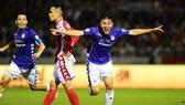CLB Hà Nội thường thắng trong những lần gặp gỡ gần đây giữa hai đội. Ảnh: HNFC