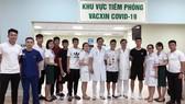 Các tuyển thủ ĐTQG hoàn tất tiêm vaccine Covid-19