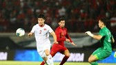Duy Mạnh cùng các đồng đội đã thắng Indonesia 3-1 trong trận lượt đi