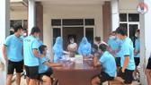 U22 Việt Nam được lấy mẫu xét nghiệm trước khi khép lại 1 tháng tập luyện