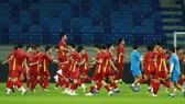 Đội tuyển Việt Nam trong buổi tập cuối cùng trước trận đấu với Indonesia. Ảnh: THIỀU ANH