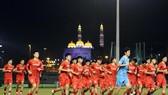 Đội tuyển Việt Nam trong buổi tập tại Oman tối 9-10