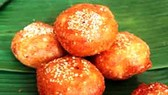 Attractive color and delicious flavor of glutinous rice doughnut