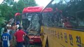 Hà Tĩnh: Hai xe khách đối đầu trên quốc lộ 8A