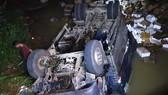 Đắk Nông: Xe tải mất lái lao xuống suối, 2 người tử vong