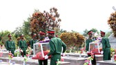 Kon Tum: Truy điệu và an táng 9 hài cốt liệt sĩ hy sinh trên đất bạn Lào