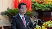 Bí thư Thành ủy Đà Nẵng Nguyễn Văn Quảng phát biểu tại kỳ họp thứ 17 HĐND TP Đà Nẵng khóa IX