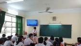 Học sinh lớp 9, Trường THCS Trưng Vương (TP Đà Nẵng) đi học trước khi bùng dịch Covid-19 vào tháng 5