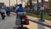 Chở gas thiếu an toàn