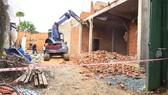 Cưỡng chế công trình không phép ở phường Linh Trung, quận Thủ Đức, TPHCM