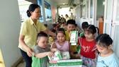 Chương trình Sữa học đường tại một trường mầm non trên địa bàn TPHCM