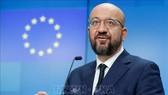 Chủ tịch Hội đồng châu Âu Charles Michel phát biểu tại cuộc họp báo ở Brussels, Bỉ trước đó. Ảnh: AFP/TTXVN