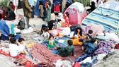 Người Afghanistan lánh nạn tại khu vực ngoại ô Kabul