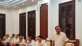 Phó Bí thư Thường trực Thành ủy Tất Thành Cang phát biểu tại cuộc làm việc