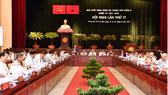 Khai mạc Hội nghị  lần thứ 11, Ban Chấp hành Đảng bộ TPHCM Khóa X. Ảnh: VIỆT DŨNG