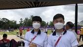 An San và Kim Je-deok đã tặng mũi tên cùng đồng phục thi đấu cho Bảo tàng Olympic