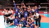 Vượt qua ROC, tuyển bóng chuyền nam Pháp lần đầu tiên lên ngôi vô địch Olympic. Ảnh: REUTERS
