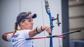 Cung thủ Lisa Barbelin (Pháp) xếp hạng 9 nội dung đơn nữ tại Olympic Tokyo 2020.
