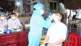 Chốt kiểm soát dịch trên quốc lộ 13 thuộc huyện Chơn Thành, tỉnh Bình Phước