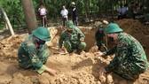 Khu vực phát hiện và quy tập 4 hài cốt liệt sĩ là một vườn tràm của người dân thôn Nhan Biều 2 (xã Triệu Thượng, huyện Triệu Phong)