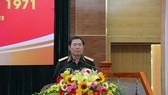 Thượng tướng Nguyễn Tân Cương phát biểu khai mạc hội thảo