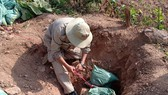 Phát hiện quả bom nặng 227 kg khi đang san ủi đất trồng sắn