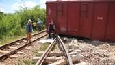 Tàu trật bánh, đường sắt Bắc – Nam qua Quảng Trị tê liệt nhiều giờ