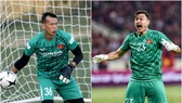 Tấn Trường (trái) hay Văn Lâm sẽ bắt chính tại đội tuyển Việt Nam?
